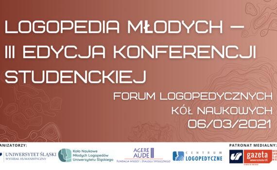 """Zapraszamy na <span class=""""caps"""">III</span> Studencką Konferencję pn.Logopedia Młodych – Forum Logopedycznych Kół Naukowych!"""
